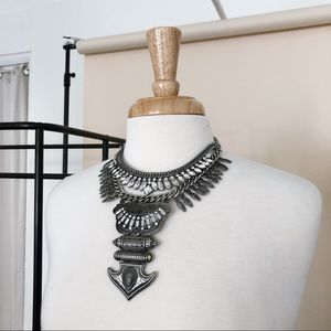 HEAVY DUTY CRYSTAL STATEMENT NECKLACE